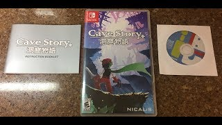 Cave Story Nintendo Switch Unboxing with book and soundtrack