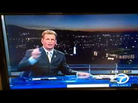 Live Earthquake on KABC channel 7 morning news!
