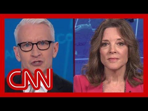 Cooper presses Williamson on her mental health views