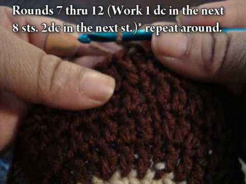 Crochet Tutorial #2 Medium Rasta Tam Video#2 Rows 4-11