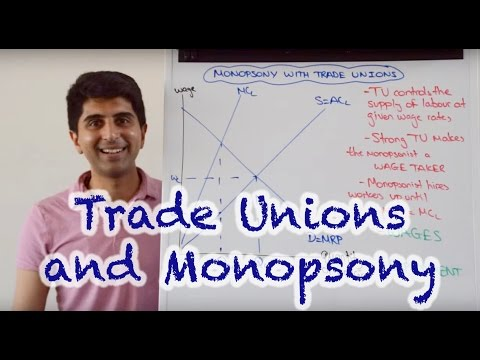 Trade Unions In A Monopsony Labour Market