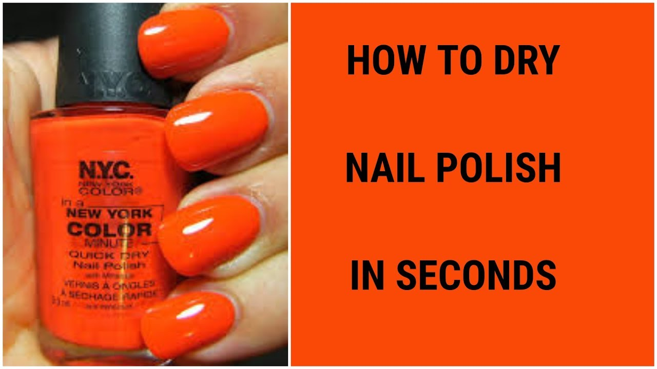 EASIEST WAY TO DRY NAIL POLISH FAST - YouTube