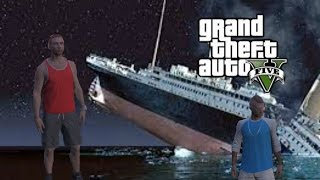 GTA 5 Online ( TITANIC SAD MOMENT )  with song