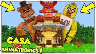 GLI ANIMATRONICS GIGANTI ATTACCANO LA NOSTRA CASA! - Minecraft ITA
