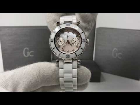 6be137634 Guess Collection GC Diver Chic Quartz Watch White Ceramic with Diamonds  I46003L1
