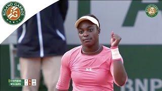 Sloane Stephens v. Venus Williams 2015 French Open Women