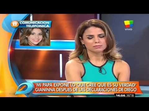 Gianinna Maradona habló de las acusaciones de su padre