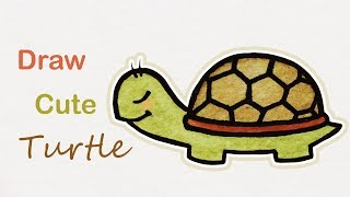How to draw a cute Turtle | Step by step art for kids