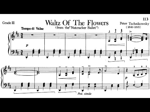 Piano Pieces for Children Grade 3 No.32 Tchaikovsky Waltz of the Flowers (P.113) Sheet Music