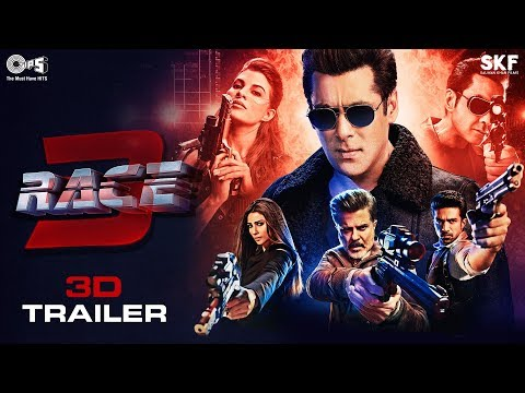 Race 3 Movie - 3D Trailer | Salman Khan | Remo D'Souza | Side-By-Side Video | For 3D TV Only