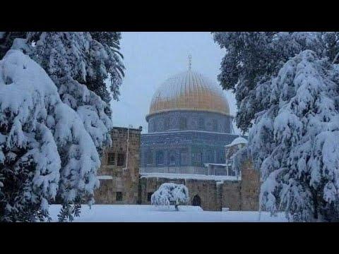 Snowing In Al Aqsa Mosque Feb 2021