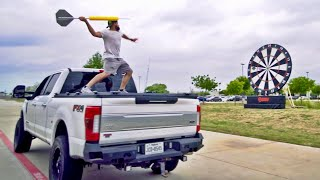 Giant Darts Battle | Dude Perfect by : Dude Perfect