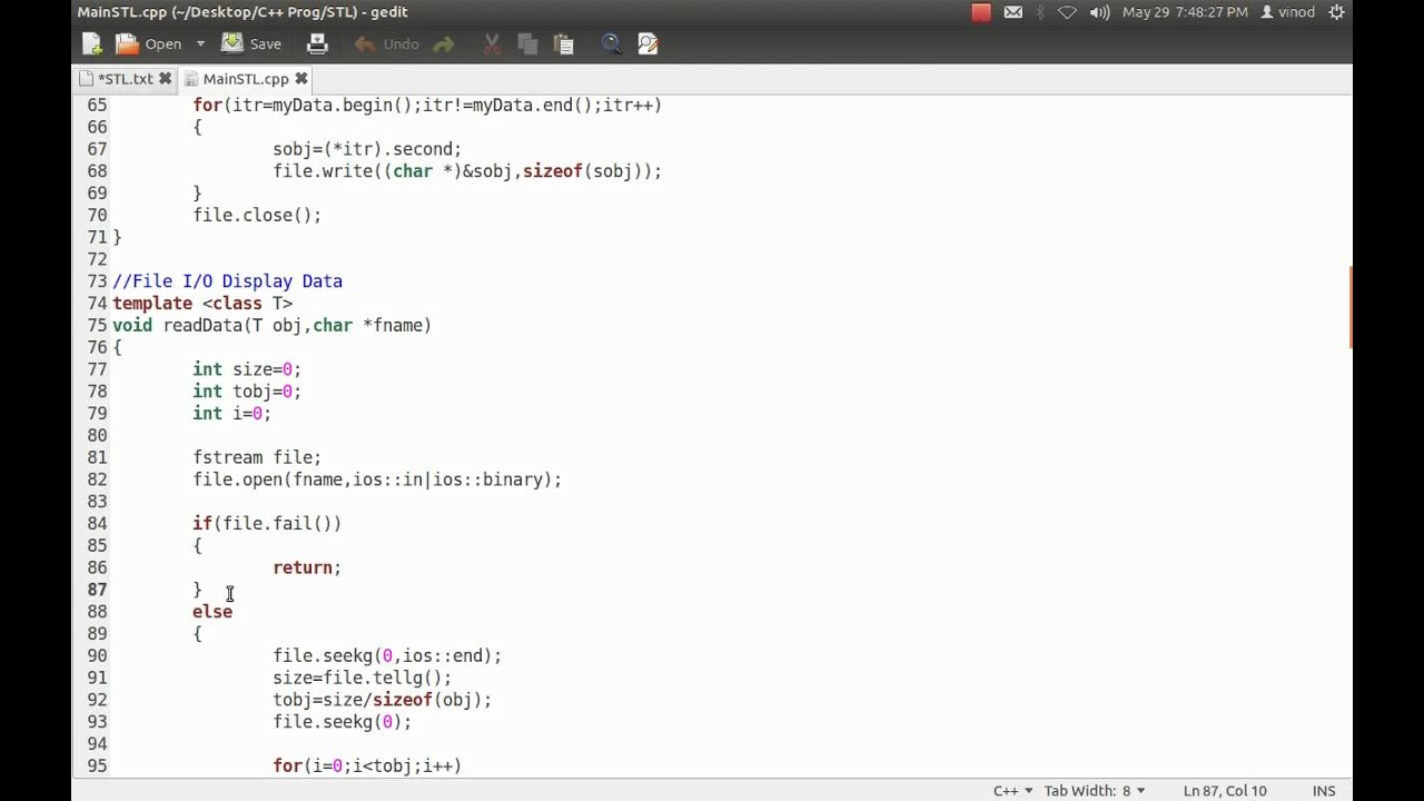 C++ Standard Template Library [Map + File I/O] - YouTube