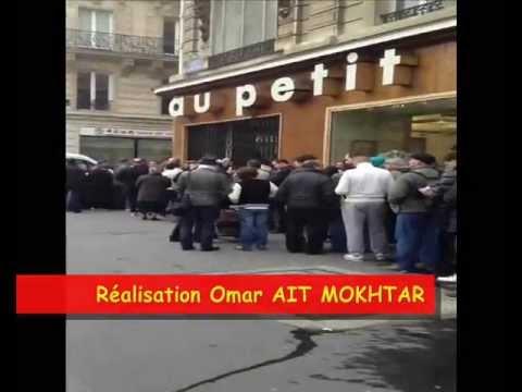 La Queue de la Honte devant le consulat d'Algérie à Paris
