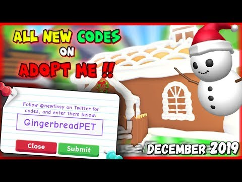 All New Codes On Adopt Me December 2019 Roblox Youtube
