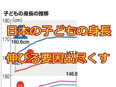 日本の子どもの身長、伸びる要因...