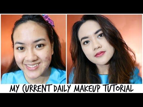 MY CURRENT DAILY MAKEUP LOOK - Makeup Natural Sehari hari Untuk Kulit Jerawat (Acne Skin)