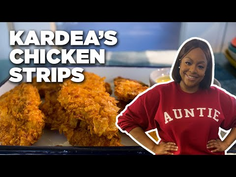 Chicken Fingers Crusted with POTATO CHIPS with Kardea Brown | Food Network