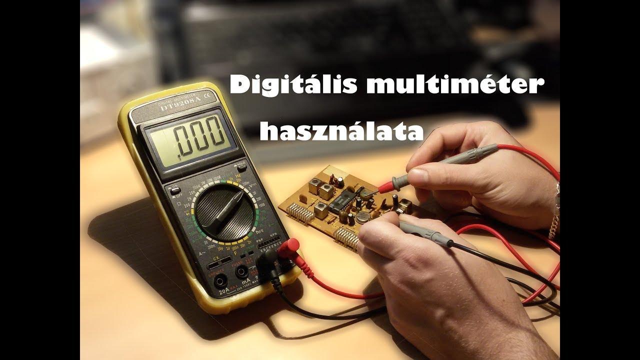 Elem mérése multiméterrel
