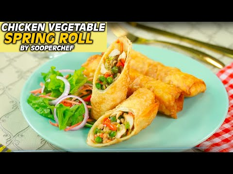 Chicken Vegetable Spring Rolls Recipe By SooperChef