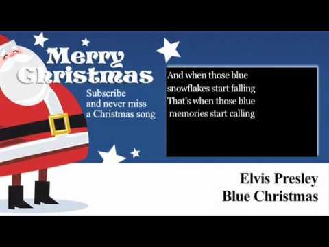 afdd6d385 Elvis Presley - Blue Christmas - Lyrics (Paroles) - YouTube