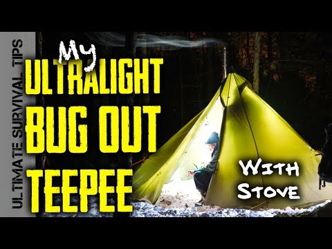 Winter C&ing in UltraLight Hot Tent + MSK-1 Survival Knife Splitting Firewood & BUG OUT Tipi? Winter Camping in UltraLight Hot Tent + MSK-1 ...