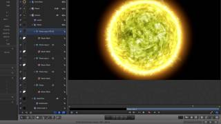 Apple Motion 5: Fiery Planet Tutorial Part 2 - Compositing the Scene