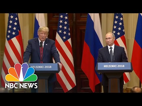 Trump Avoids Denouncing Election Meddling, Asks About DNC Server And Clinton Emails | NBC News