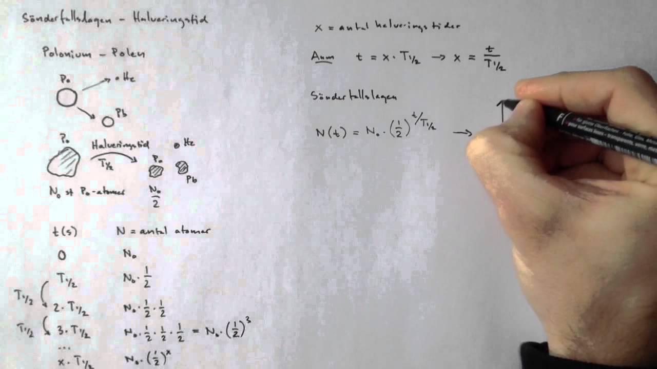 halveringstid formel fysik
