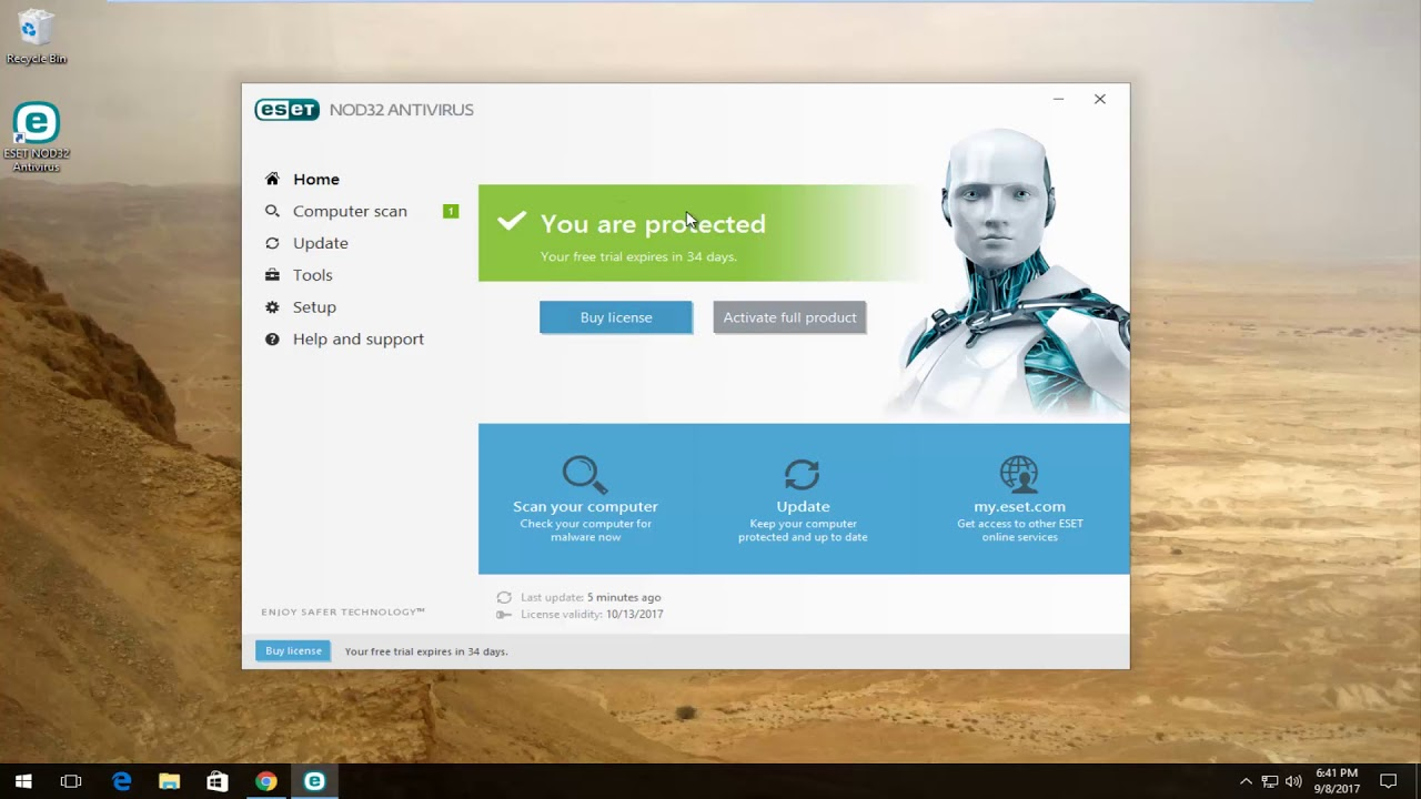 antivirus online eset