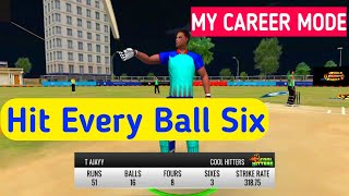 My Career Mode BATTING Tips | How to Hit Every Ball Six in WCB
