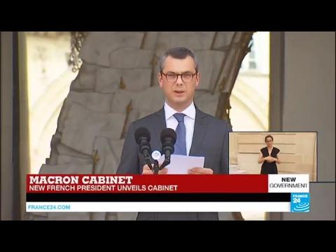 President Emmanuel Macron unveils cabinet ministers