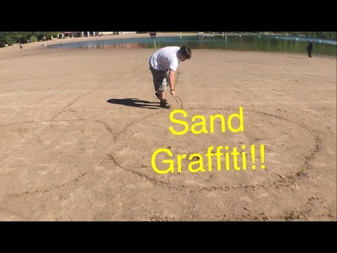 Sand graffiti!