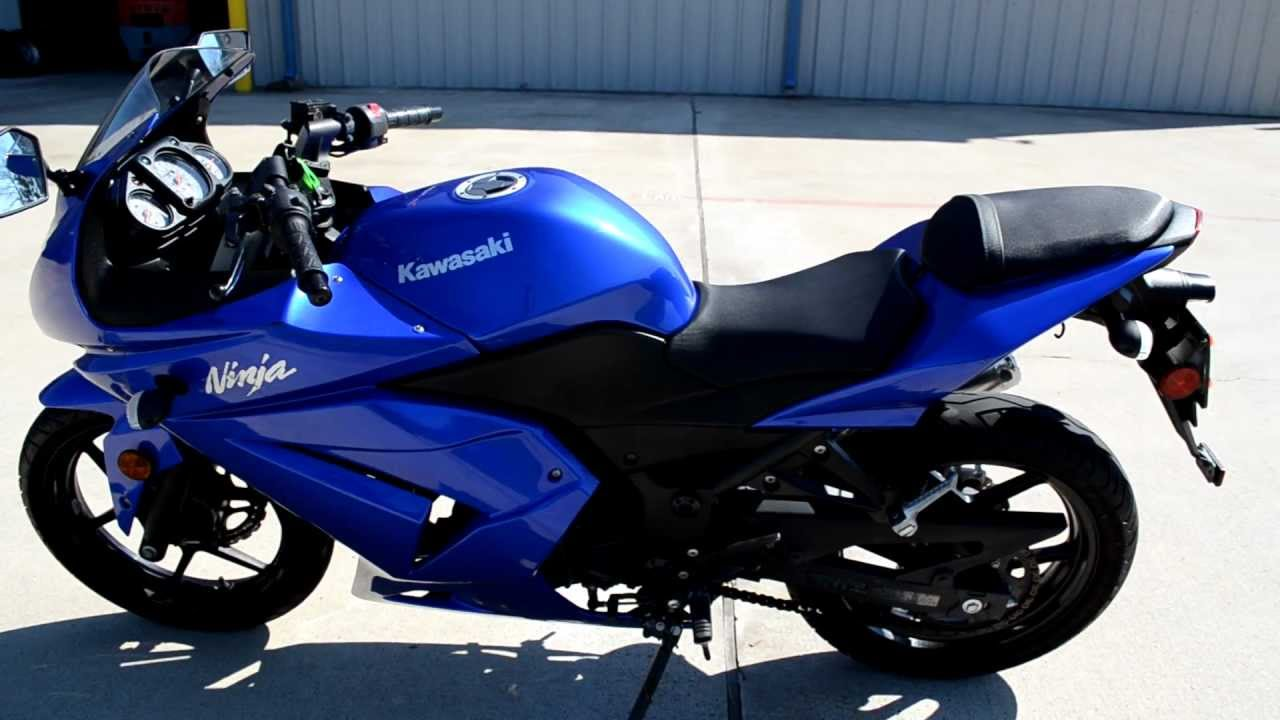 2009 Kawasaki Ninja 250R Candy Thunder Blue - YouTube