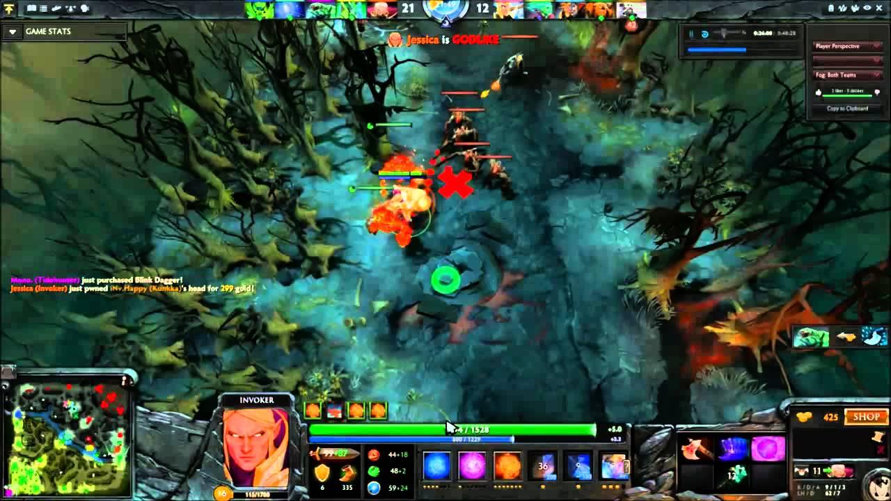 invoker 18 kills 1 death pubstomp beyond godlike pro wisp support