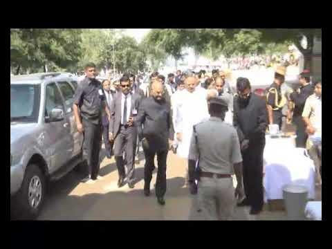 राष्ट्रपति गिरौदपुरी मे संत गुरु घासीदास जी की जन्म भुमि में