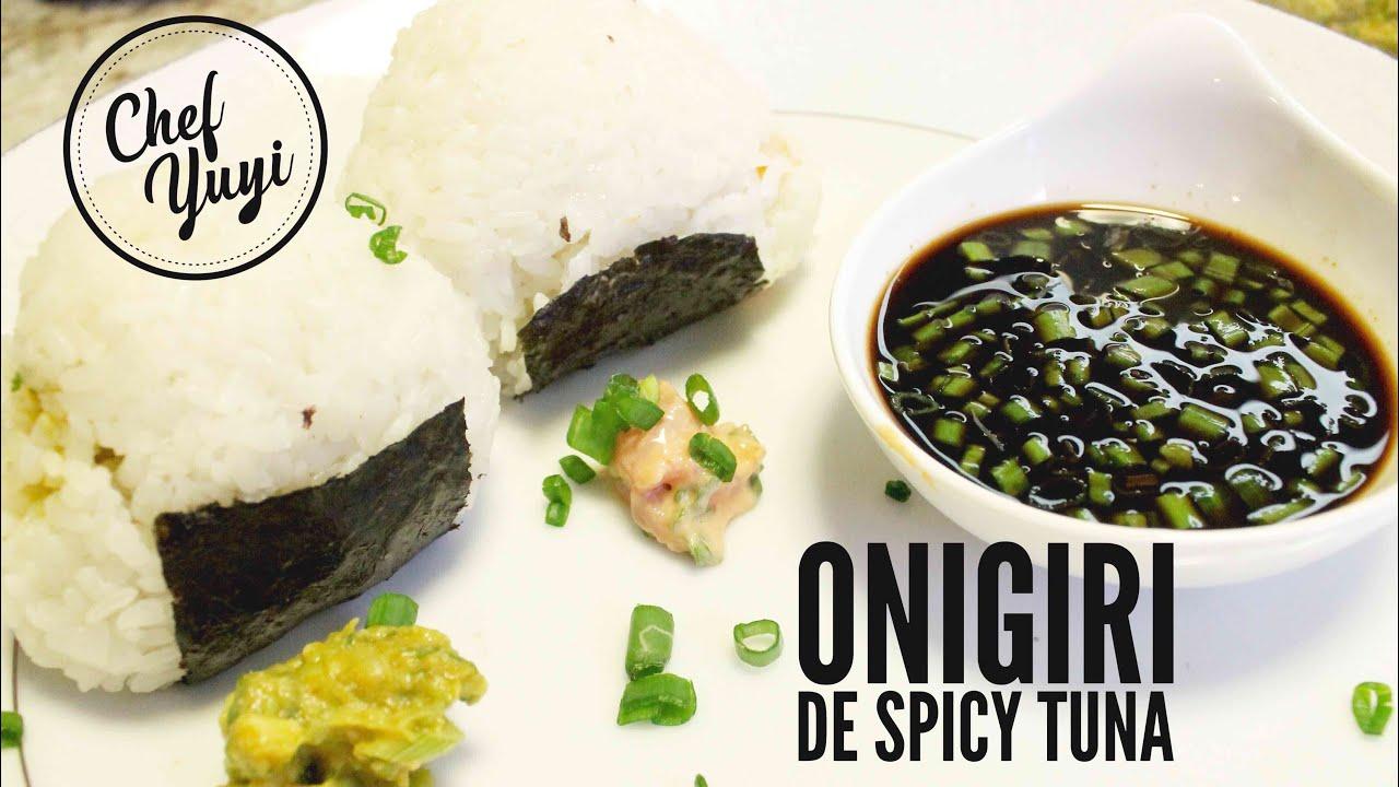 ONIGIRI DE SPICY TUNA Y SPICY AGUACATE (VEGANO) | Chef Yuyi