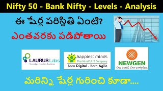 Why these shares are falling, Laurus labs, Happiest minds, Newgen software, nifty, bank nifty levels