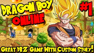 GREAT DBZ GAME WITH CUSTOM STORY! | Dragon Boy Online (2D DBZ Adventure) - Episode 1