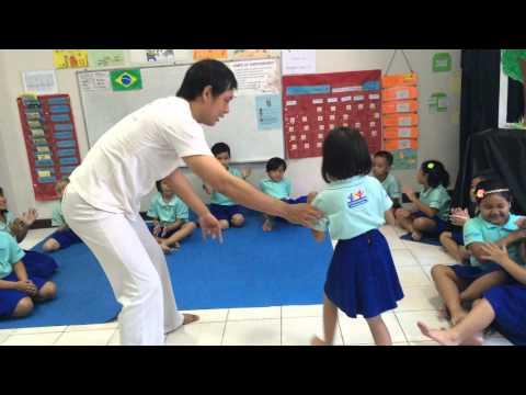 Capoeira Indonesia Jakarta kids intro class by VIVA BRAZIL part 2