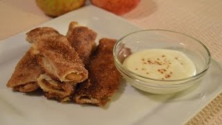Apple Pie Burrito With Cream Cheese Glaze - How To Make Apple Pie Filling