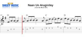 """""""Naan Un Aruginiley """" (SPREP & Guitar TAB) from """"24"""""""