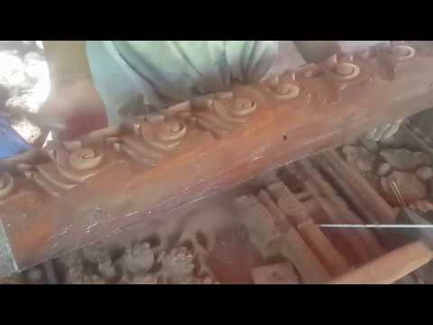 How to make sculpture by wood - Khmer sculpture / wood carving / Bayon temple