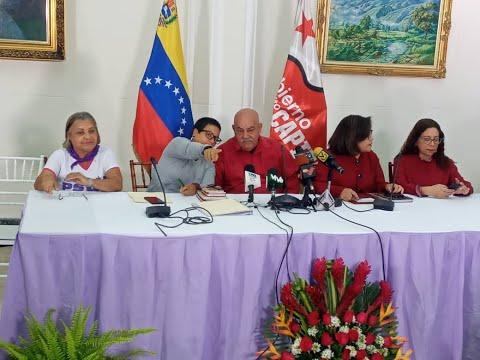 Rueda de prensa del gobierno venezolano sobre actividades por el mes de la Mujer 2020