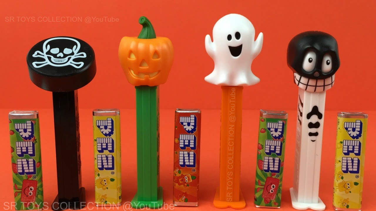 Happy Halloween with PEZ Candy Dispensers Opening by SR Toys Collection