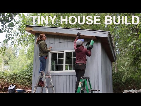 DIY Tiny House Build- Roofing, Wiring, Insulation, Drywall, Weather Sealing