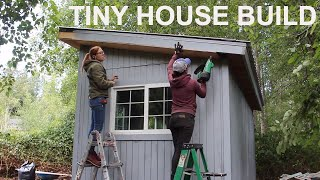 Tiny House Build: Roofing, Wiring, Insulation & Drywall With April Wilkerson