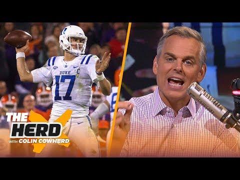Colin Cowherd begs Giants not to take Daniel Jones, explains how draft busts happen | NFL | THE HERD