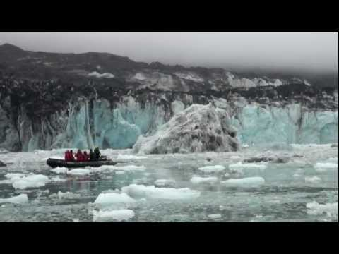 Glaciers calving, my most spectacular footage. Ice on the move!
