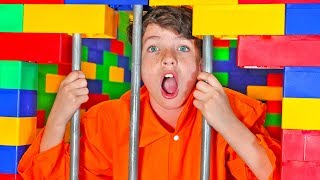 I Trapped My Little Brother in LEGO Prison for 24 Hours!